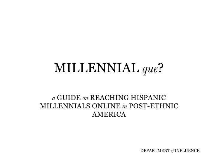 Millennial Que?
