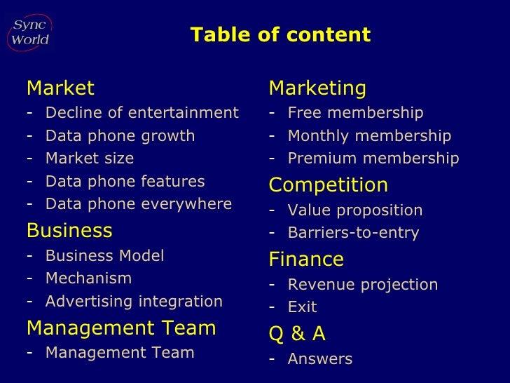 Table of content <ul><li>Market </li></ul><ul><li>Decline of entertainment </li></ul><ul><li>Data phone growth </li></ul><...