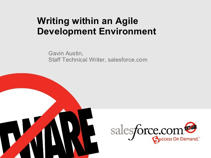 Writing within an Agile Development Environment