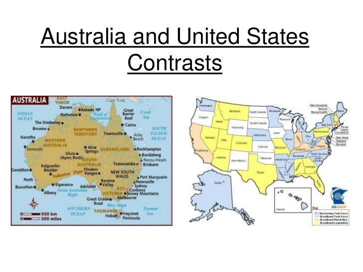 Australia and United States Contrasts<br />