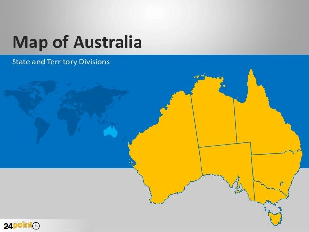 Australia Map - Custom-drawn PowerPoint Slide