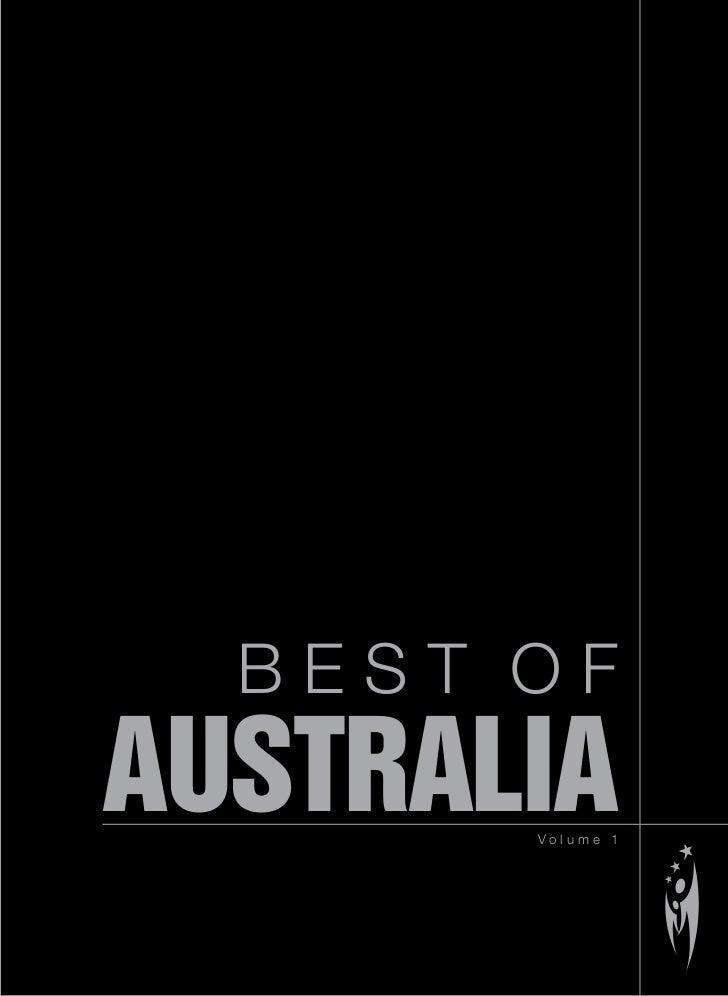 BEST OF AUSTRALIA        Volume 1