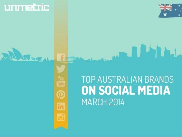 TOP AUSTRALIAN BRANDS ON SOCIAL MEDIA MARCH 2014