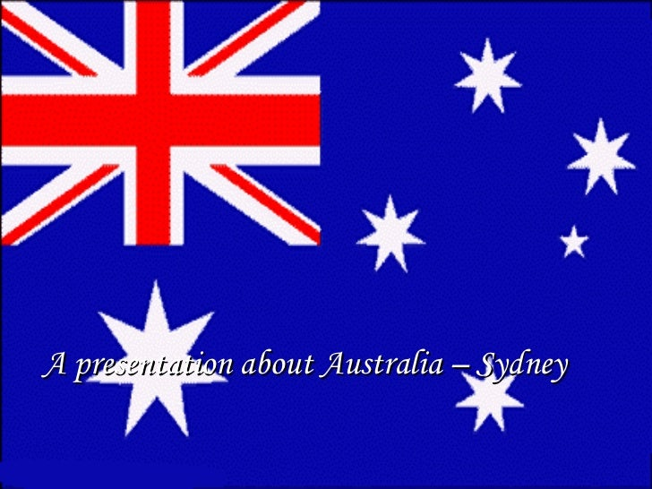 A presentation about Australia – Sydney