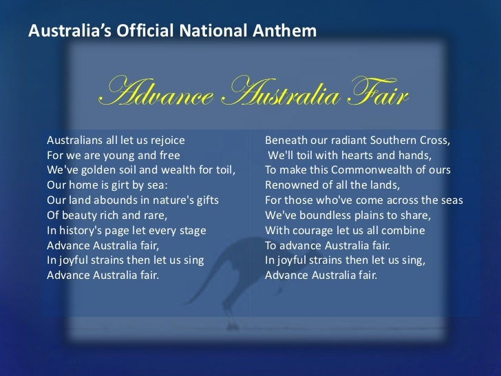 Advance Australia Fair Misheard Lyrics - amIright