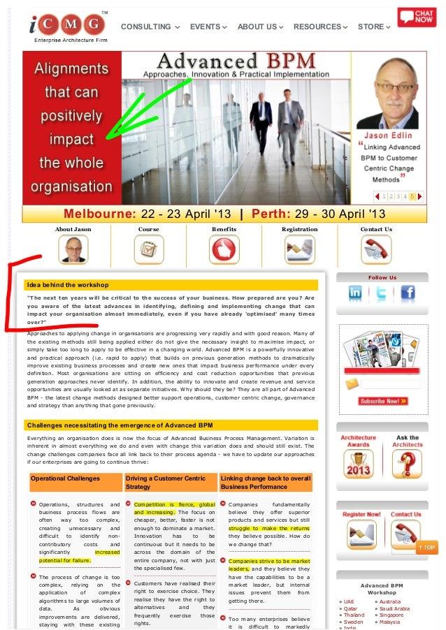 Australia Advanced BPM Workshop