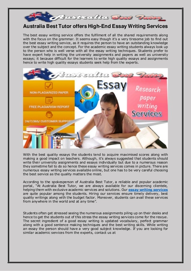 Best essay for you writing service australia