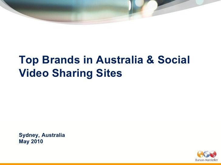Australia Branded Video Study