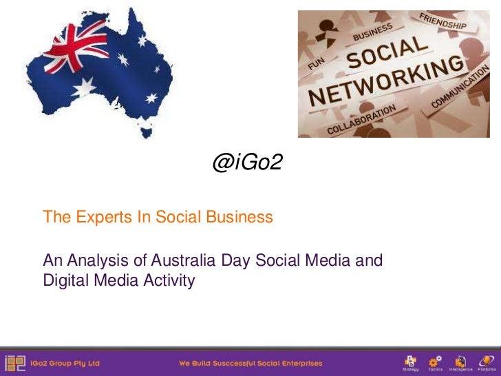 Australia day 2012 social media analysis