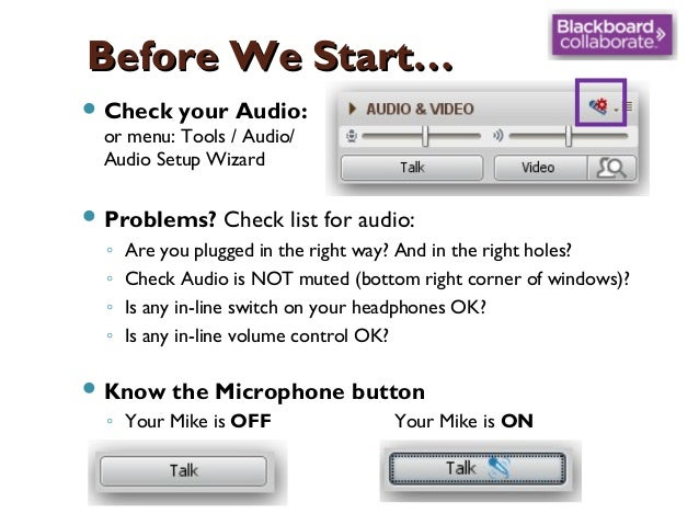 Before We Start…  Check your Audio: or menu: Tools / Audio/ Audio Setup Wizard  Problems?  ◦ ◦ ◦ ◦  Check list for audio...