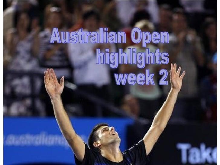 Australian Open highlights week 2