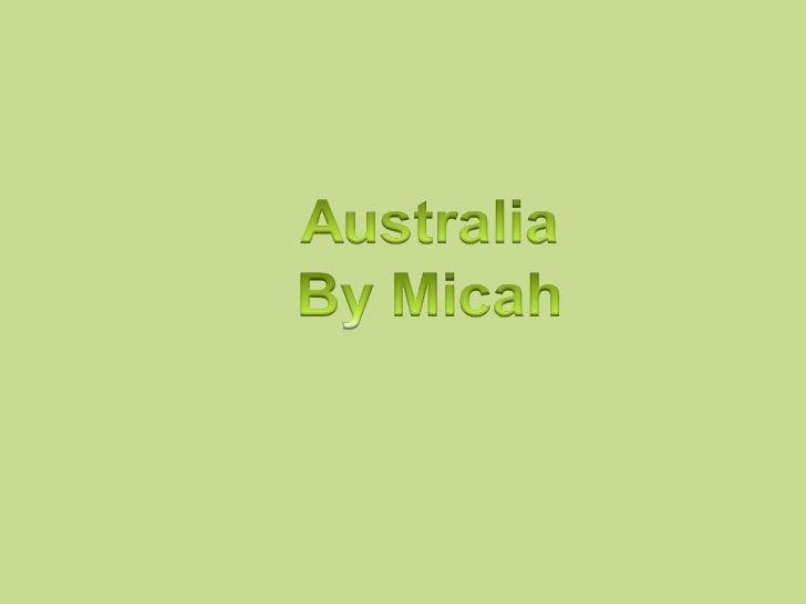 Australian animals by Micah
