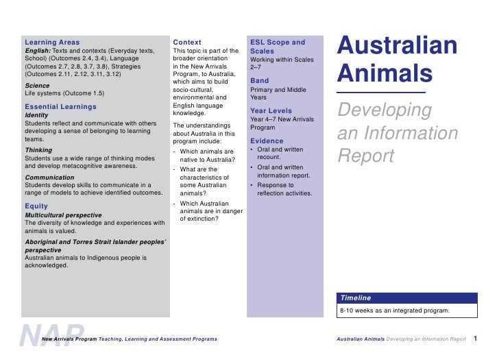 Australian Animals Screen