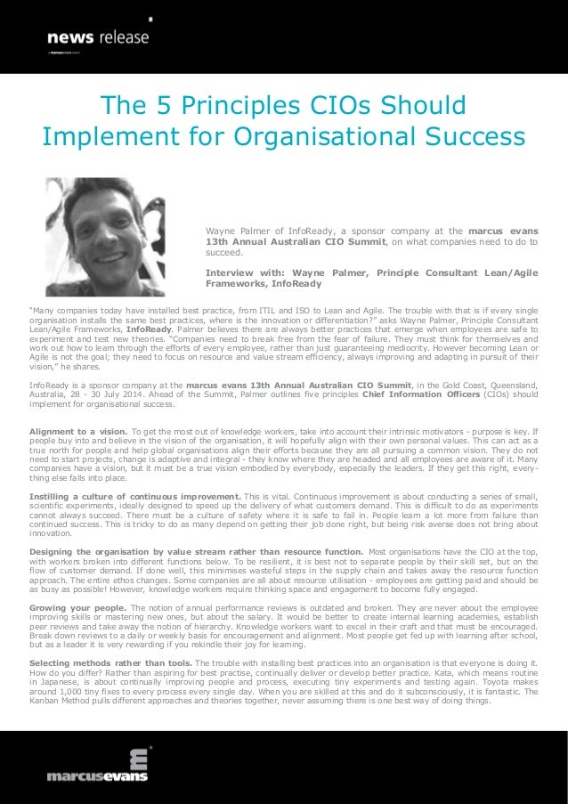 The 5 Principles CIOs Should Implement for Organisational Success