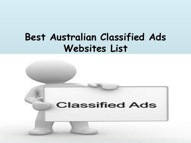 Australian Classified Ads Websites List