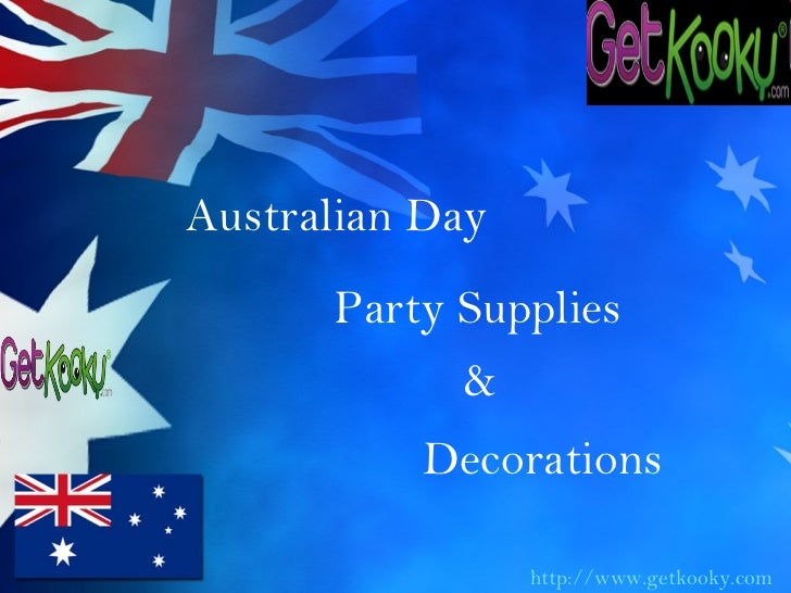 Australian day party supplies decorations for Australian decoration