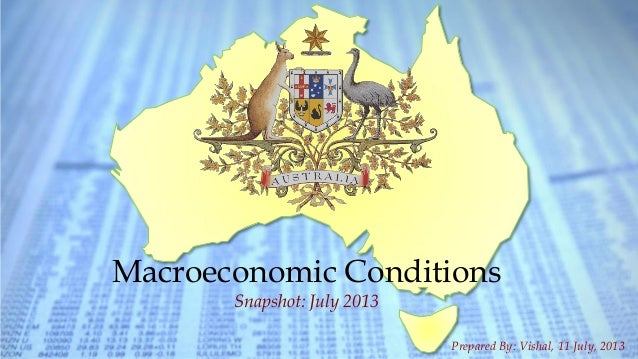 1Australian Macroeconomic Snapshot - 2013 | Macroeconomic Conditions Snapshot: July 2013 Prepared By: Vishal, 11 July, 2013