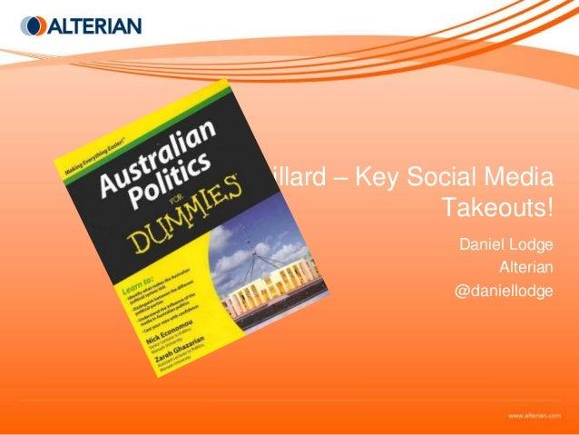Australian Election - Abbott v Gillard - Social Media Monitoring