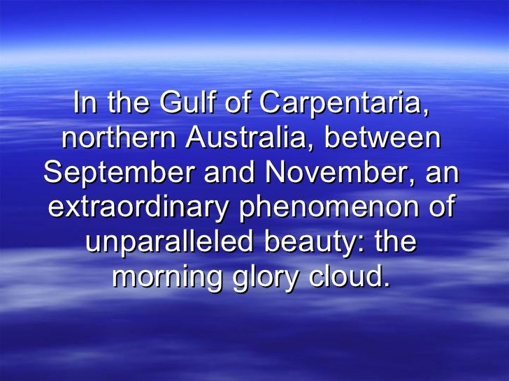 In the Gulf of Carpentaria, northern Australia, between September and November, an extraordinary phenomenon of unparallele...