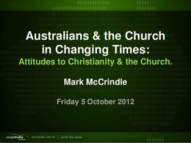 Australians and the church in changing times