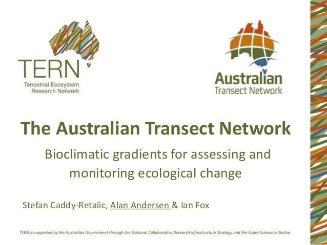 TERN Australian Transect Network ATBC 2014