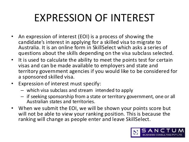writing an expression of interest
