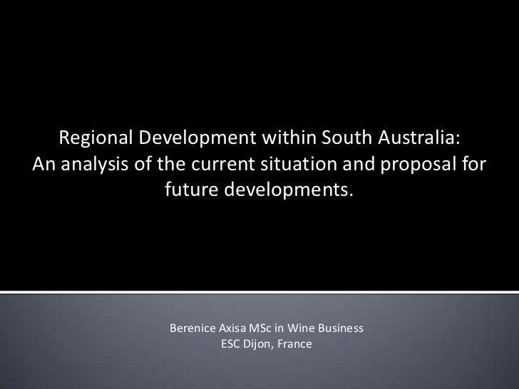 Regional Development within South Australia