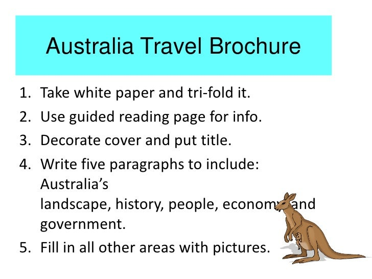 Australia travel brochure for How to make a travel brochure