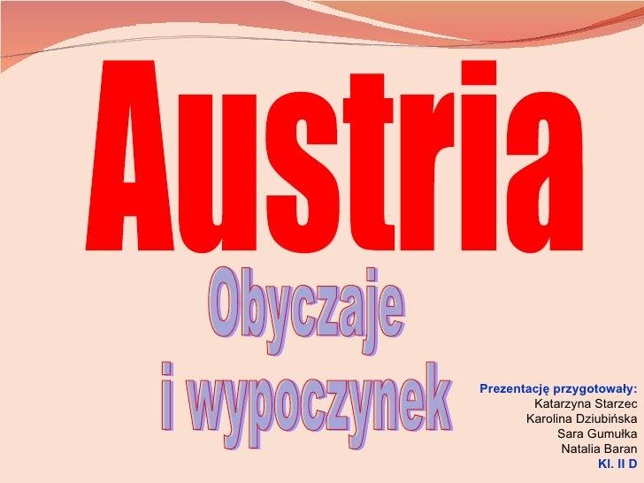 Austria - obyczaje i wypoczynek