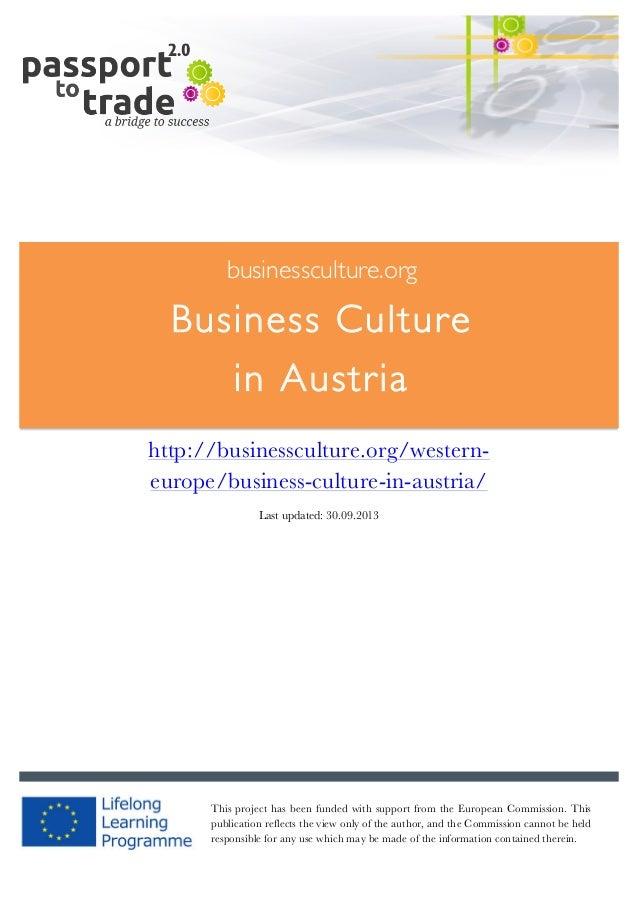 Austrian business culture guide - Learn about Austria