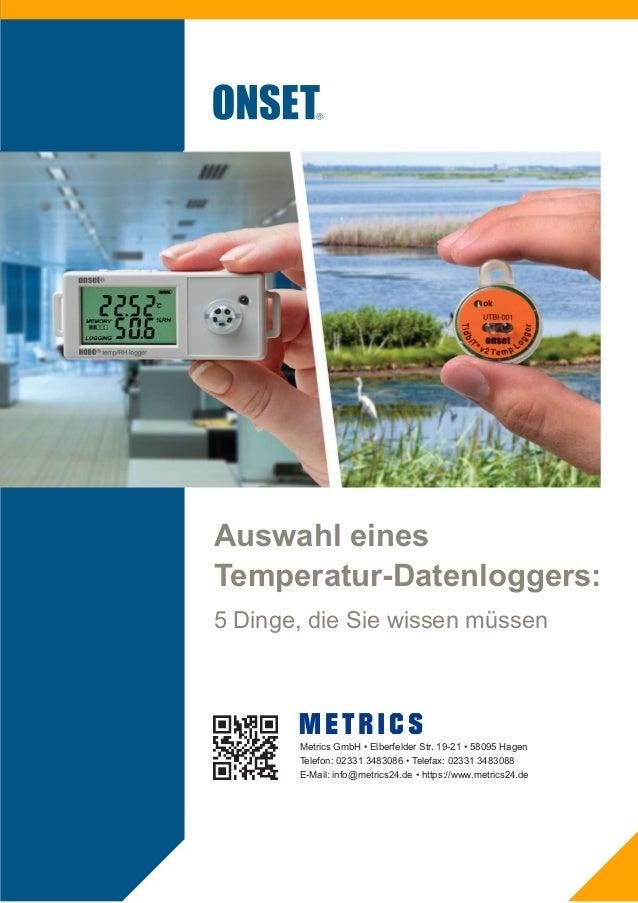 1-800-LOGGERS1 Einführung Batteriebetriebene Temperatur-Datenlogger werden vielfach von Bauunter- nehmern, Servicetechnike...