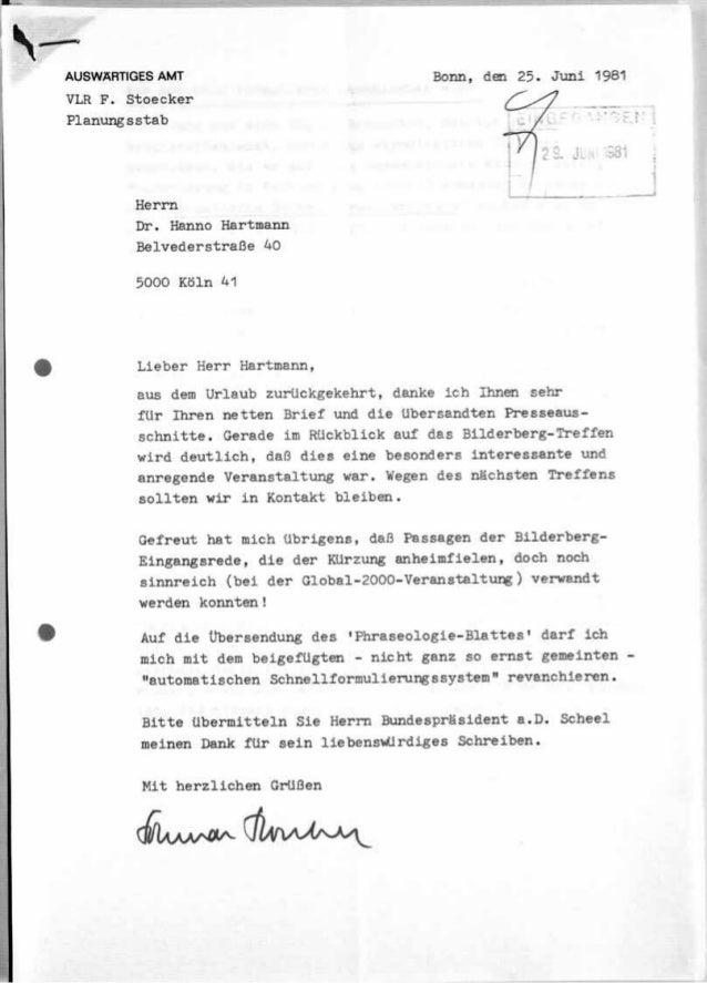 Auswäringes amt 1981 bilderberger