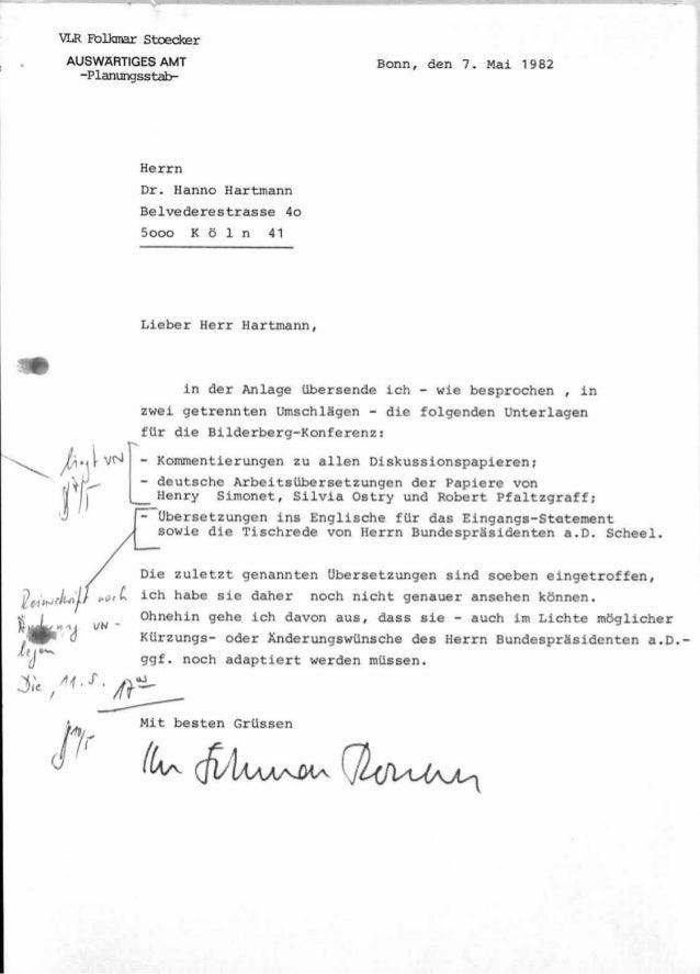 Auswäringes amt 1982 Bilderberger