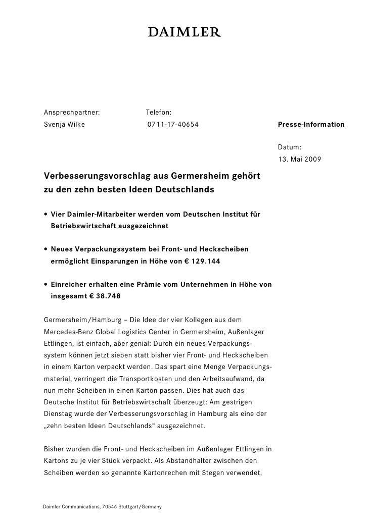 Ansprechpartner:                        Telefon:Svenja Wilke                            0711-17-40654                  Pre...