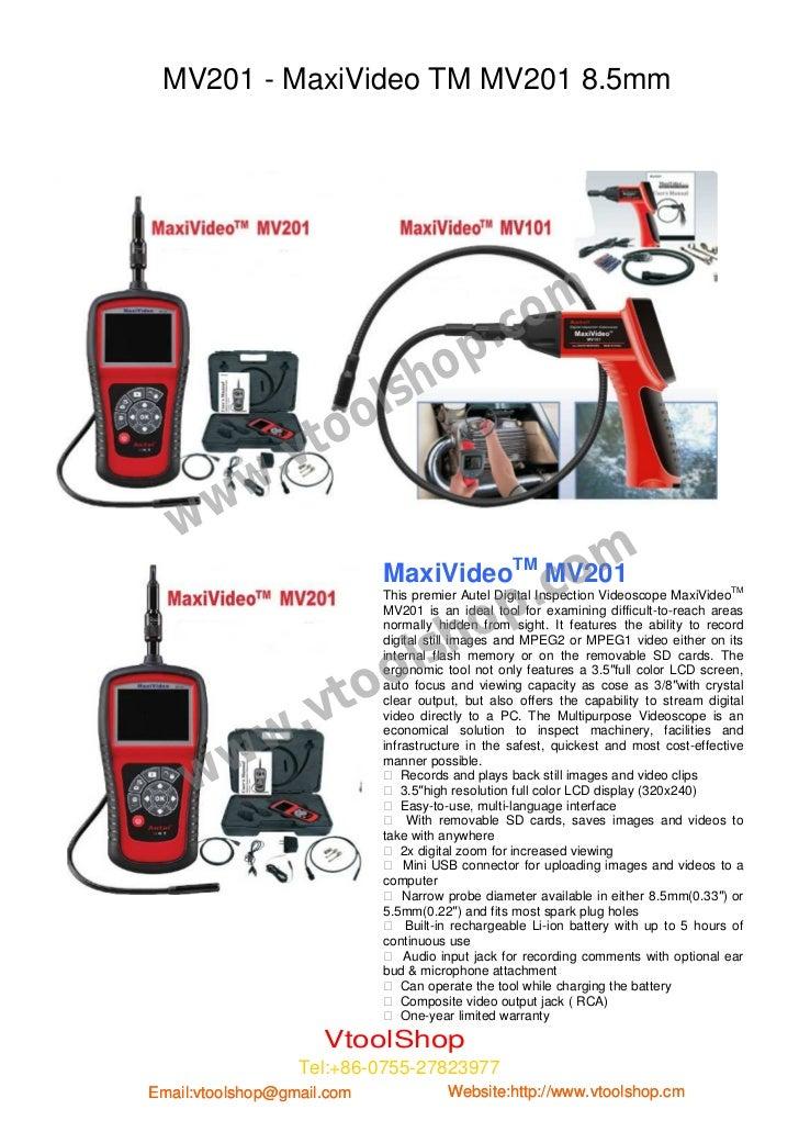 Autel MV101 and MV201 Manual | VtoolShop