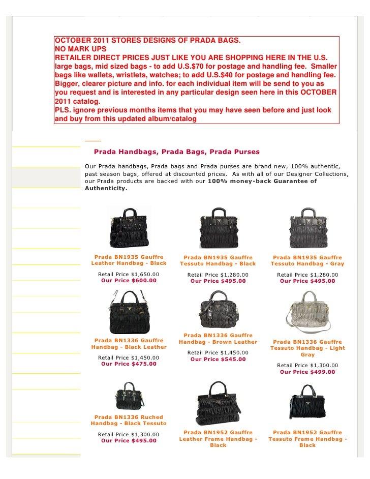 prada tessuto nylon tote bag - Authentic Prada Handbags, Bag, Purses at Discounted Prices -pdf