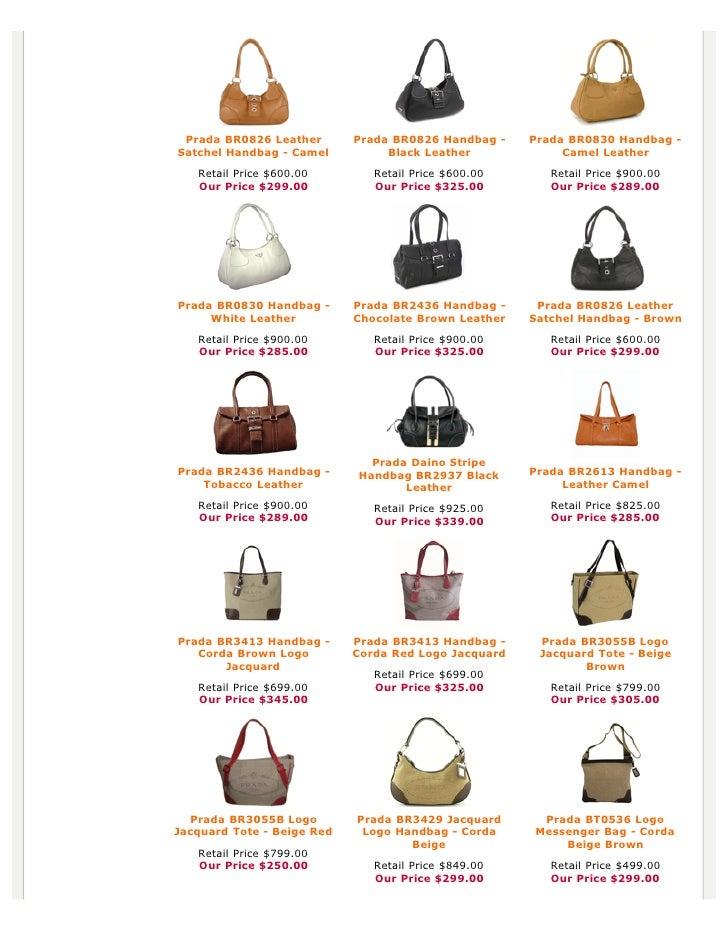 prada nylon tote price - Authentic Prada Handbags, Bag, Purses at Discounted Prices -pdf