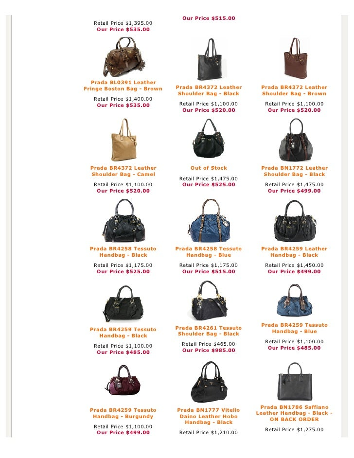 prada price list