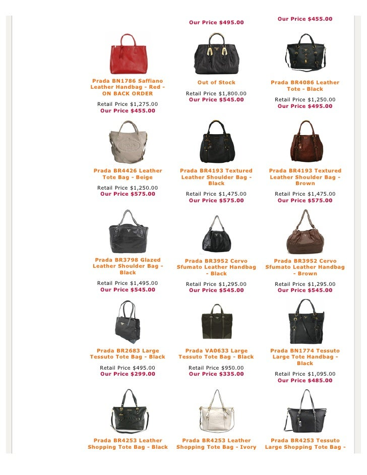 prada white tote bag - Authentic Prada Handbags, Bag, Purses at Discounted Prices -pdf