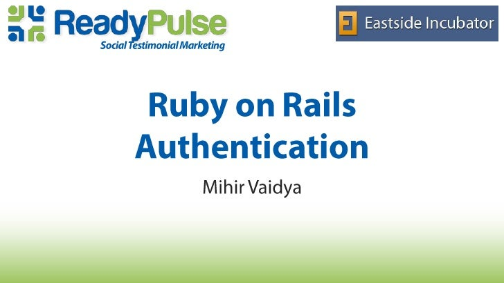 Authentication in-rails