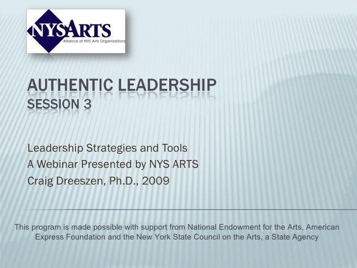 Authentic Leadership Part Iii