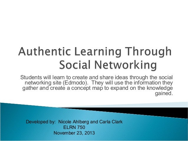 Authentic learning project