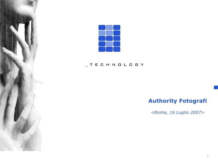 Authority Files Fotografi