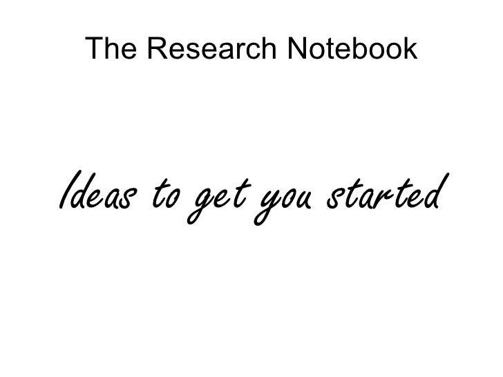 Author notebook