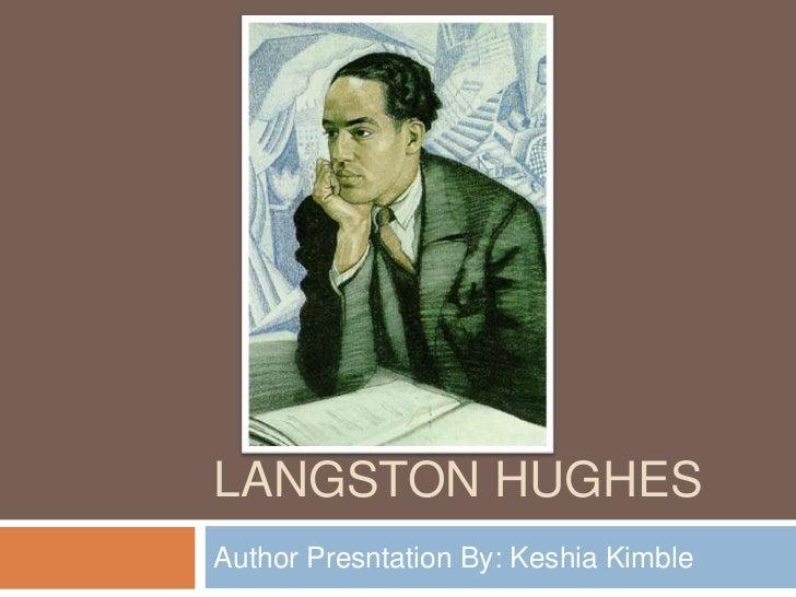 Author presentation- Langston Hughes