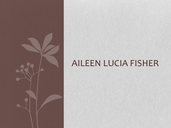 Author Presentation: Aileen Fisher