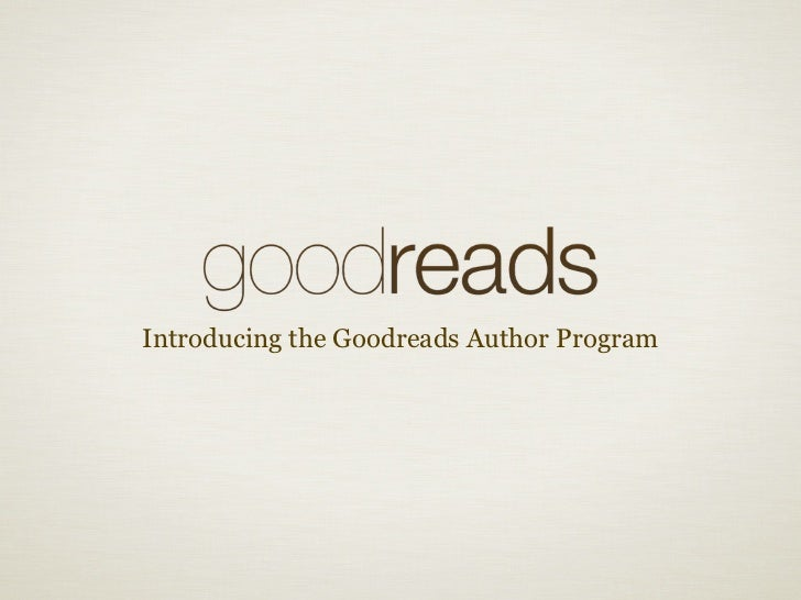 Introducing the Goodreads Author Program