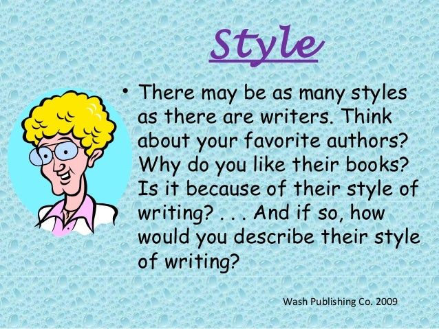 What is an authors writing style?
