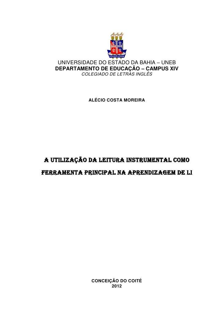 0    UNIVERSIDADE DO ESTADO DA BAHIA – UNEB   DEPARTAMENTO DE EDUCAÇÃO – CAMPUS XIV           COLEGIADO DE LETRAS INGLÊS  ...