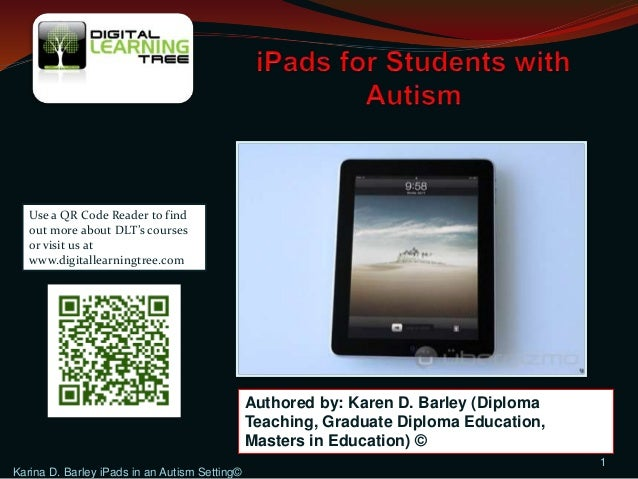 Using iPads with students with Autism